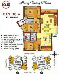 Hung Vuong Plaza apartment for sale in 129 sqm
